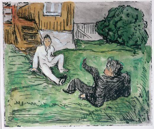 Edvard Munch, Slagsmålet