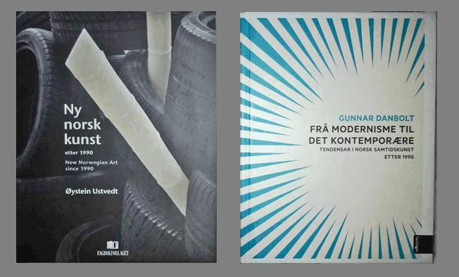 "Øystein Ustvedt, ""Ny norsk kunst"" Fagbokforlaget 2011 og Gunnar Danbolt, ""Frå modernisme til det kontemporære – tendensar i norsk samtidskunst etter 1990"" Samlaget 2014"