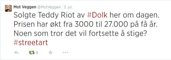 Mot Veggen tweet july 2014