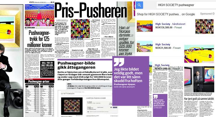 Faksimile: avissider fra VG, Dagbladet og Dagens Næringsliv 2011–2015, samt Google-søk 2016
